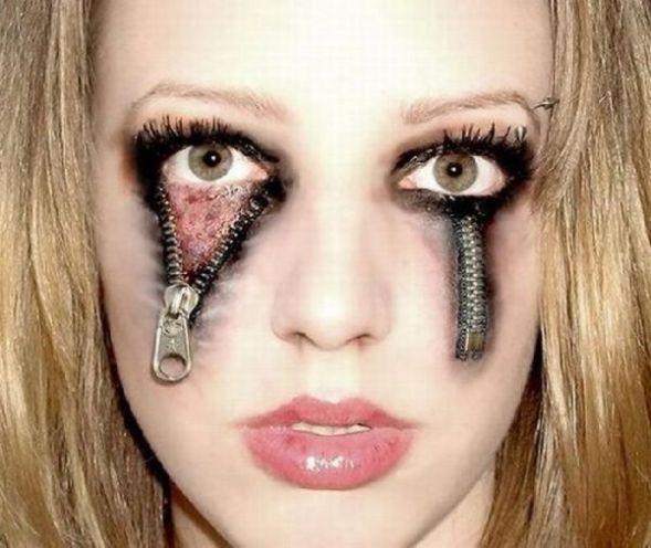 Eye makeup for crepey eyelids